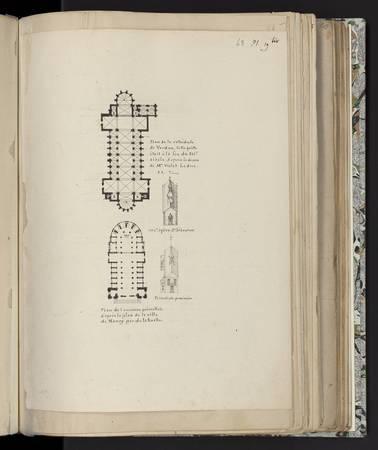 Plan de la cathédrale de Verdun. Plan de l'ancienne primatiale d'après le …