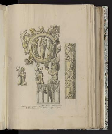 Crosse en ivoire du Xve siècle de l'abbaye d'Etival
