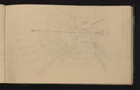 Vue du grand escalier d'honneur conduisant à la chambre des pairs…