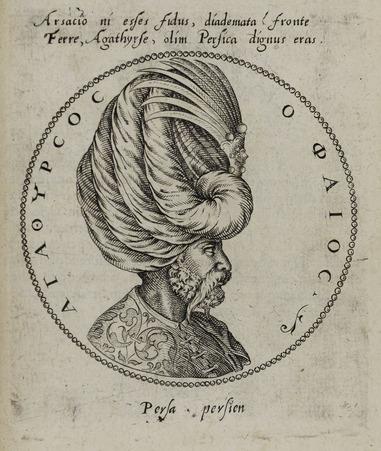Buste tourné de profil à droite d'Agathyrsus Pholous