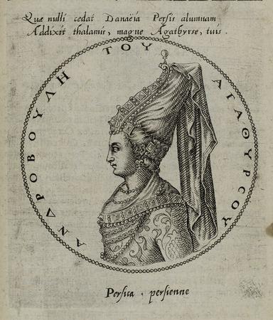 Buste tourné de profil à gauche d'Androbule