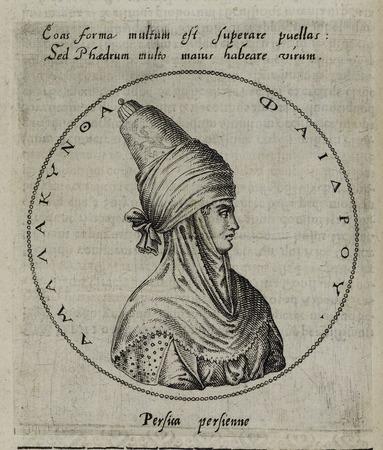 Buste tourné de profil à droite d'Amalacyntha