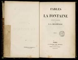 Fables de La Fontaine. Édition illustrée par J.J. Grandville. Tome II