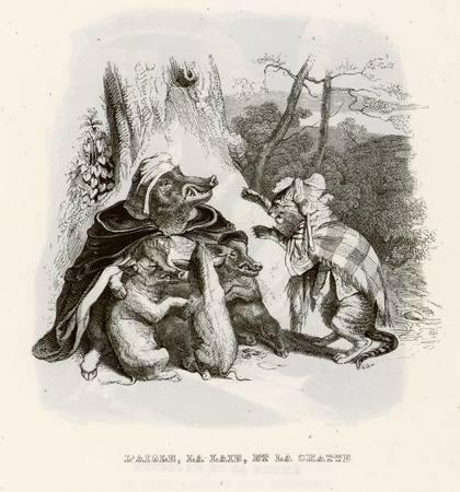 L'aigle, la laie, et la chatte
