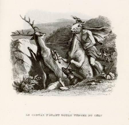 Le cheval s'étant voulu venger du cerf