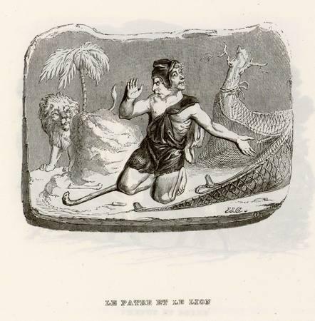 Le pâtre et le lion