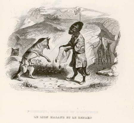 Le lion malade et le renard