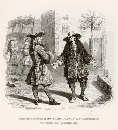 L'ingratitude et l'injustice des hommes envers la fortune