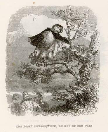 Les deux perroquets, le roi et son fils
