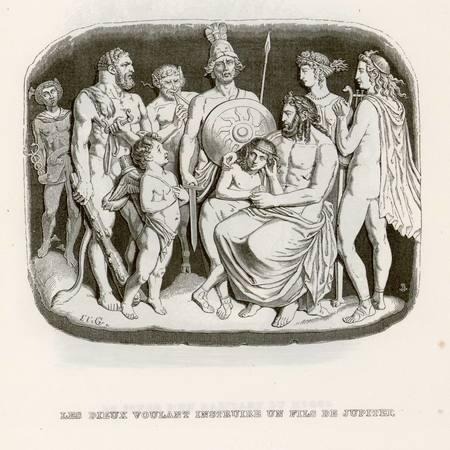 Les dieux voulant instruire un fils de Jupiter