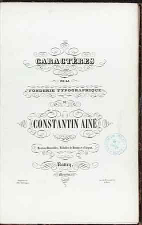 Caractères de la Fonderie typographique de Constantin Ainé