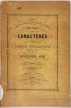 Caractères de la fonderie typographique de Constantin aîné, Nancy