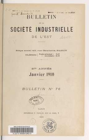 Revue générale de l'exposition de Nancy 1909 et palmarès de la Société ind…
