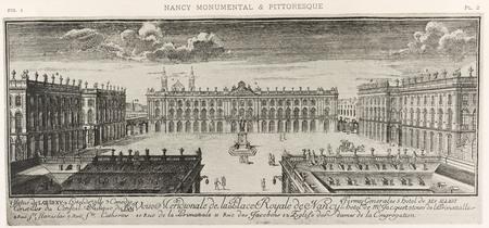 Nancy, sous le règne de Stanislas : veüe meridionale de la place royale de…
