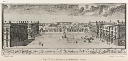 Nancy, sous le règne de Stanislas : veüe septentrionale de la place royale…