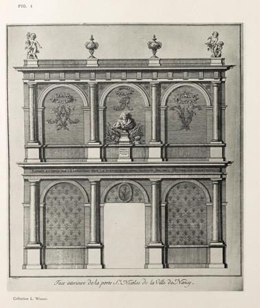 Nancy, sous le règne de Stanislas : face interieure de la porte St Nicolas…