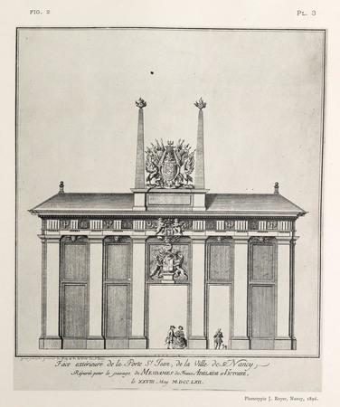 Nancy, sous le règne de Stanislas : face extérieure de la porte St Jean, d…