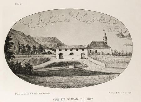 Vue de St-Jean en 1847