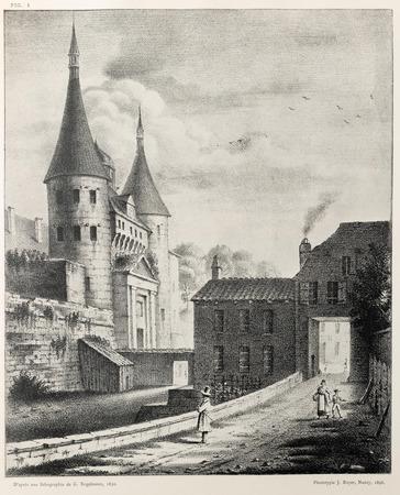 Vue intérieure de la porte Notre-Dame, à Nancy