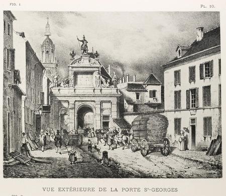 Vue extérieure de la porte St-Georges