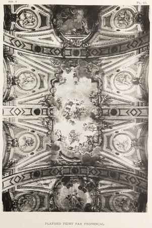 Bonsecours : plafond peint par Provençal