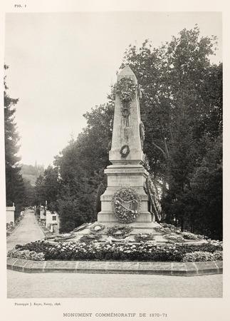 Au cimetière de Préville : monument commémoratif de 1870-71