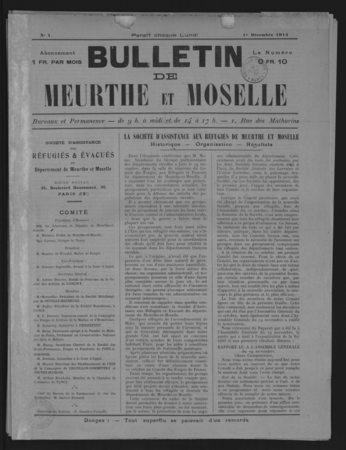Bulletin de Meurthe et Moselle : organe de la société d'assistance aux réf…