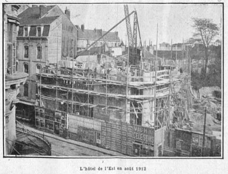 L'hôtel de l'Est en août 1912