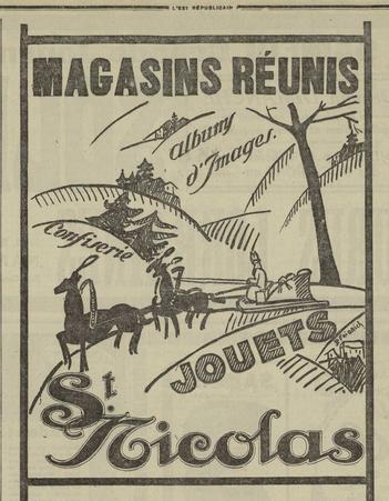 Magasins réunis, album d'images, jouets, St Nicolas