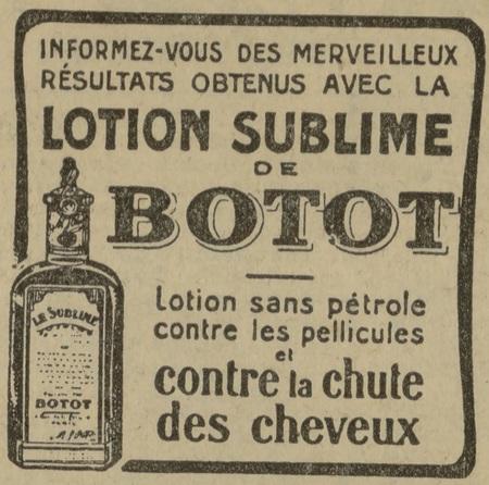 Lotion sublime de Botot