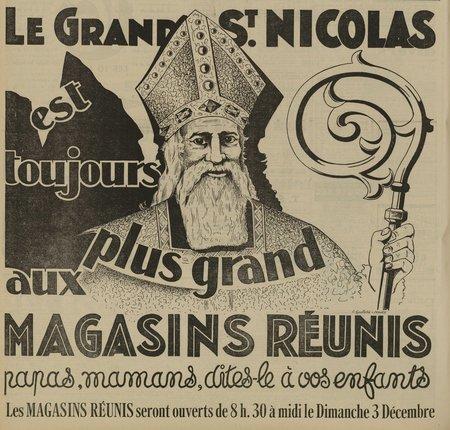 Le grand Saint Nicolas est toujours plus grand aux Magasins Réunis