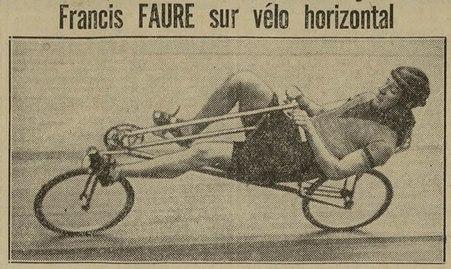 Francis Faure sur vélo horizontal