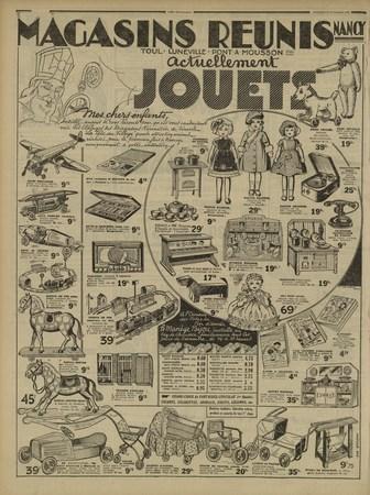 Magasins réunis, album d'images jouets Saint Nicolas