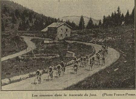 Les coureurs dans la traversée du Jura