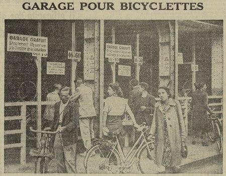 Garage pour bicyclettes.