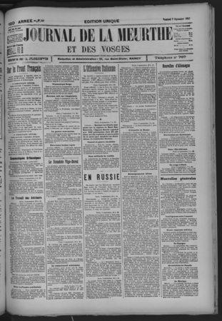Journal de la Meurthe et des Vosges