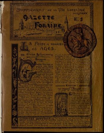 Gazette foraine : supplément de la vie lorraine illustrée