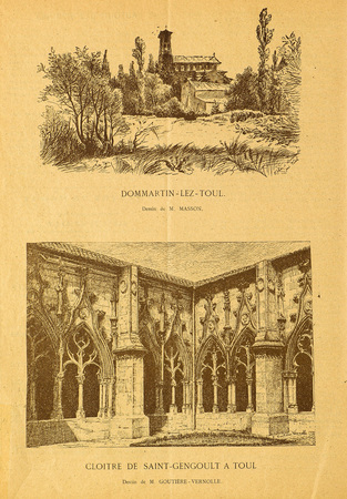 Dommartin-lez-Toul. Cloïtre de Saint-Gengoult à Toul