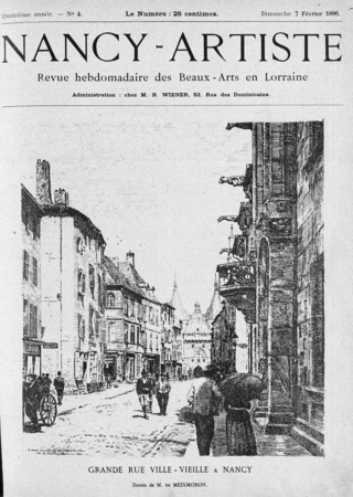 Grande rue ville-vieille à Nancy
