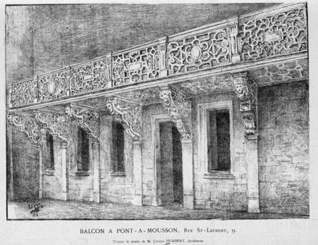 Balcon à Pont-à-Mousson
