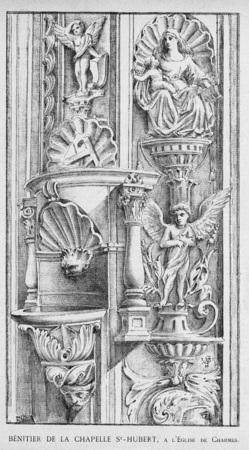 Bénitier de la chapelle St-Hubert