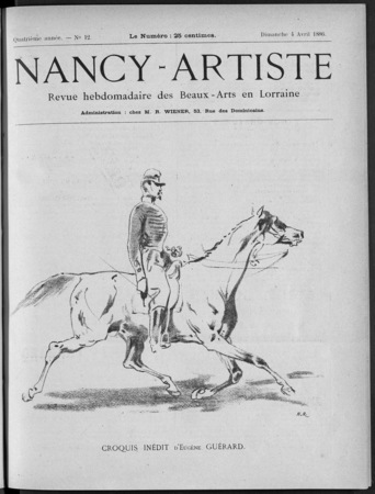Nancy artiste : revue hebdomadaire de la musique & des beaux-arts