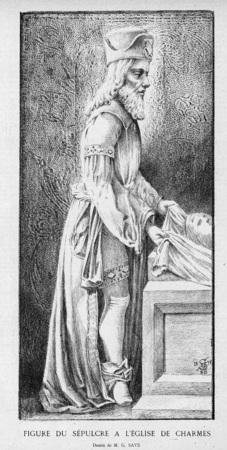 Figure du sépulcre à l'église de Charmes