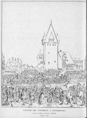 L'entrée des Zurichois à Strasbourg