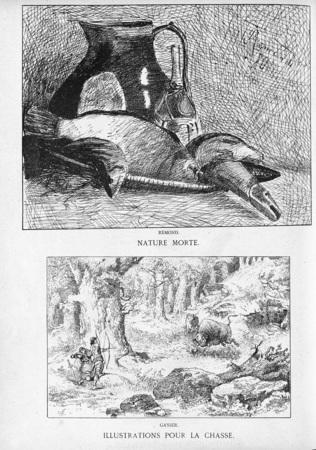 Nature morte. Illustrations pour la chasse