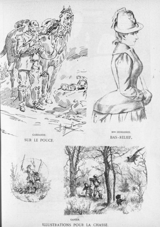 Sur le pouce. Bas-relief. Illustrations pour la chasse