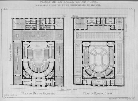 Plan de la salle Victor Poirel