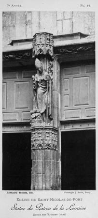 Statue du patron de la Lorraine