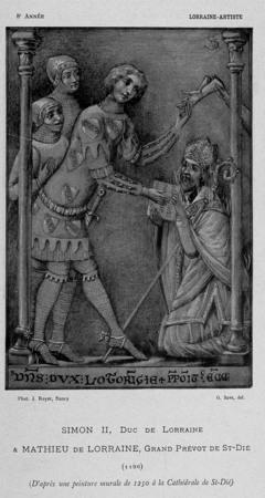 Simon II, duc de Lorraine & Mathieu de Lorraine