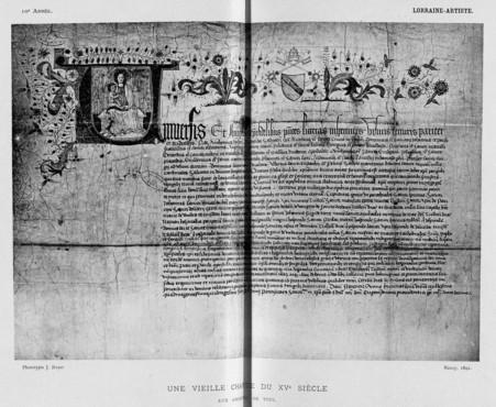 Une vieille charte du XVe siècle